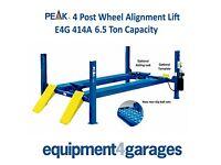 Brand New 4 Post Wheel Alignment Lift Ramp 6.5 Ton - 5500mm platforms E4G 414A