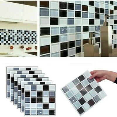 192 Pack Kitchen Bathroom Tile Stickers Mosaic Sticker Self-adhesive Wall Decor