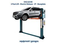 Brand New 2 Post Lift - Electric Release - 4T - Baseplate - 1ph/3ph E4G 6254E