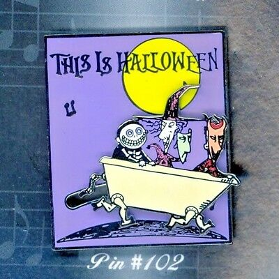 Disney Nightmare Song This is Halloween Walking Bathtub Lock Shock Barrel Pin
