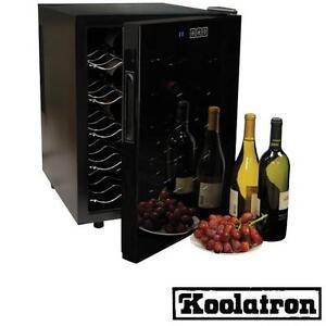 NEW KOOLATRON 20 BOTTLE WINE COOLER TEMPERED MIRROR GLASS DOOR - KITCHEN FRIDGE COOLERS APPLIANCE APPLIANCES CELLARS