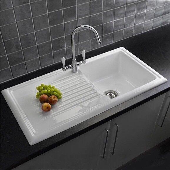 Brand new reginox ceramic sink with genesis chrome tap