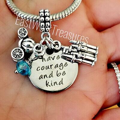 Cinderella Prinzessin Schmuck Geschenk Bettelarmband Necklace-Have Courage Sein