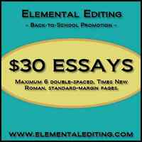 Back-to-School Promotion at Elemental Editing!