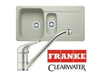 Franke Aveta 1.5 Bowl Cream Tectonite Kitchen Sink & Clearwater Tap