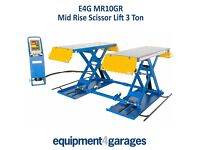Brand New Scissor Lift Mid Rise 1 Metre Lift with 3Ton Capacity E4G MR10GR