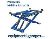 Brand New Mid-Rise Portable Scissor Vehicle Lift 2.8 Ton Capacity E4G MR06