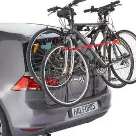 Double bike rack carry 2 bicycles on hatchback car easy fit