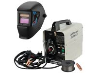 JEFFERSON JEFMIG100 100AMP GASLESS MIG WELDER 230V + JEFFERSON AUTO DARKENING WELDING HELMET