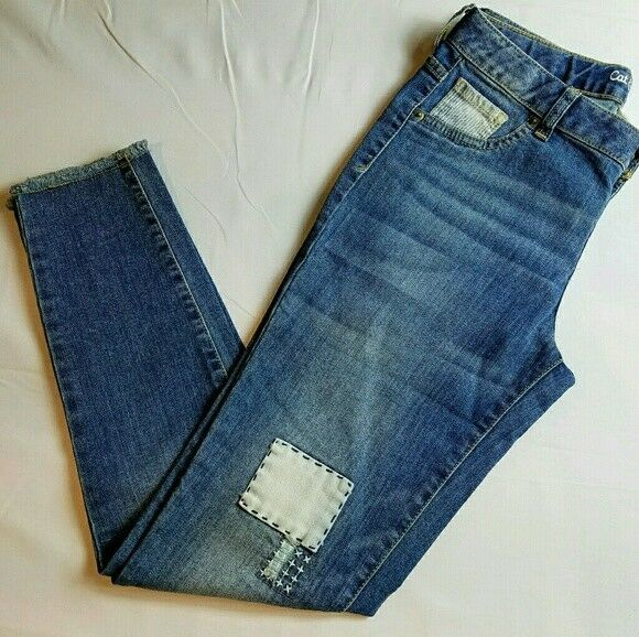 Cat & Jack Jeans Jeggings Size 10 Plus Super Stretch Patch Patchwork New NWT Clothing, Shoes & Accessories