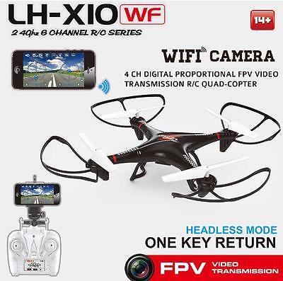 BEST BUY LH-X10WF 2.4G 4CH 6Axis GYRO WiFi w/Live Camera IOS/Android Quad