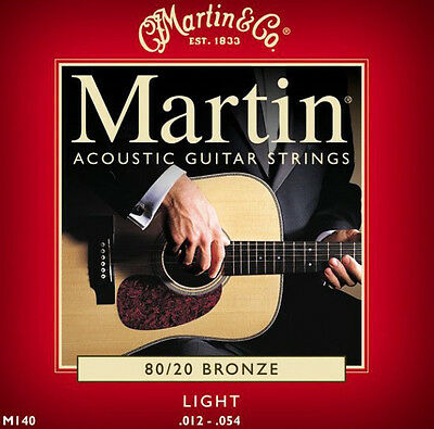 MARTIN ACOUSTIC GUITAR STRINGS LIGHT 12-54 CHEAPEST ON EBAY ( LOOK )