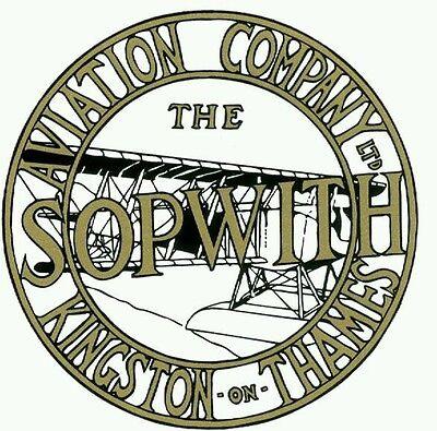 Sopwith aviation company Ltd sticker RFC RAF WWI camel aircarft first world war