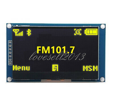 Yellow 2.42 Inch Oled Display Ssd1309 128x64 Spi Serial Port Module For Arduino