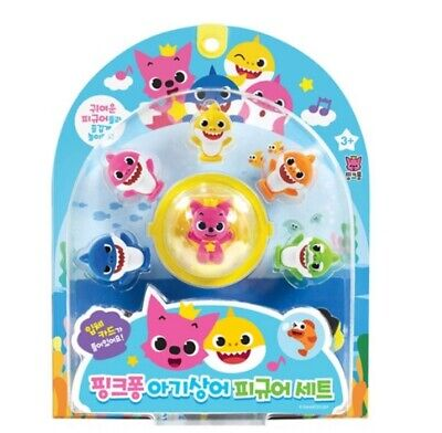 Pinkfong Baby Shark Family Figure Set 6 Figures Role Play Baby Kids Present