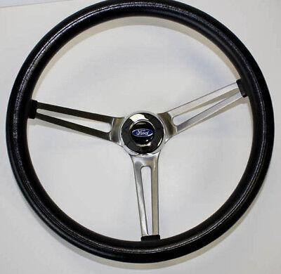 "70-77 Ford F100 F150 F250 F350 Grant Black Steering Wheel 15"" 75-77 Bronco comprar usado  Enviando para Brazil"