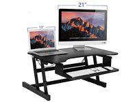 Standing Desk Sit Down Height Adjustable Desk like varidesk