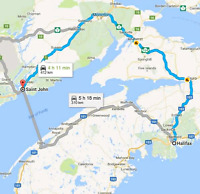 Halifax to Saint John and back