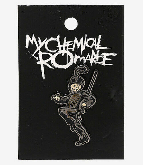 My Chemical Romance Black Parade Marching Band Leader Skeleton Metal Enamel Pin