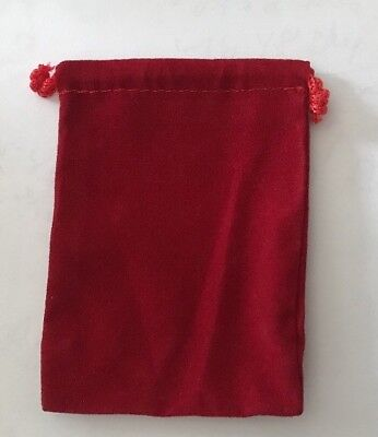 25 Pcs RED 3x4 Jewelry Ring Drawstring Pouches Velour Velvet Gift Bags