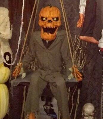 Spirit Halloween Pumpkin Nester 2014 Swinging Animated Prop