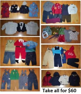 18 Mths Baby Boys Clothing Lot 2 (Take all 46 Pieces for $60)