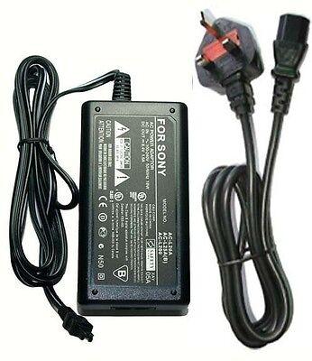 Uk United Kingdom Ac Adaptor For Sony Ac-l25c Ac-l200 Ac-...