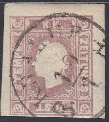 Österreich 1858 Michel Nr. 17 c Zeitungsmarke gestempelt dunkellila Befund VÖB