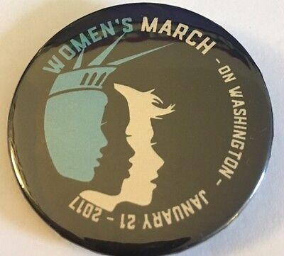 """SALE! 2 1/4"""" Women's March on Washington, 1/12/2107 Pinback Designed by Idsign"""