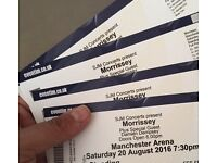 MORRISSEY - Manchester 20th August 2016 3 x tickets