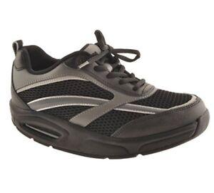 RYN Men's X-Run Athletic Walking Shoes Black/Charcoal, Sizes: 6.5 & 7.5 M.