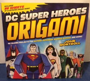 DC SUPER HEROES ORIGAMI BOOK NEVER USED.
