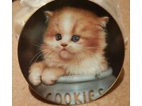 Used Limited Edition Cat Plate from Cameo Kittens Collection by Qua Lemonds 1993 - Ginger Snap