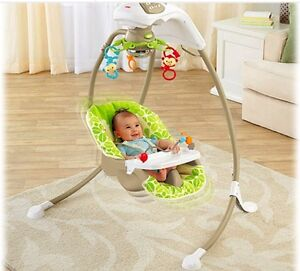 Fisher price rainforest cradle and swing