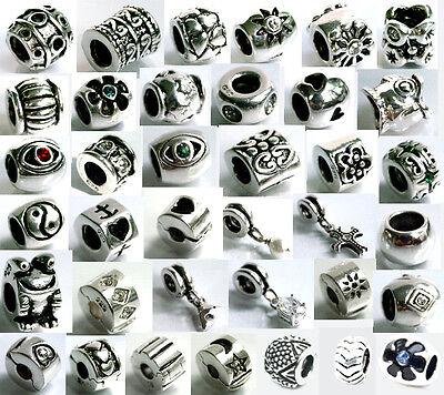 925 ECHT SILBER *** Wählen Sie 2 Armband Module Beads Clips