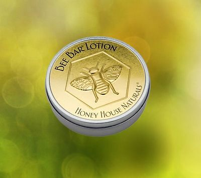 Honey House Naturals Large Bee Bar Body Lotion Vanilla Large Tin Dry Skin Relief