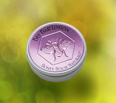 Honey House Naturals Large Bee Bar Body Lotion Lavender Tin Dry Skin Relief