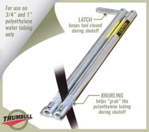 Trumbull Shutoff Tool for Polyethylene Water Tubing, Crimp and Lock Water Stop