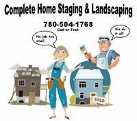 COMPLETE HOME STAGING AND LANDSCAPING
