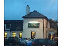 Senior bar staff - £8.25 ph