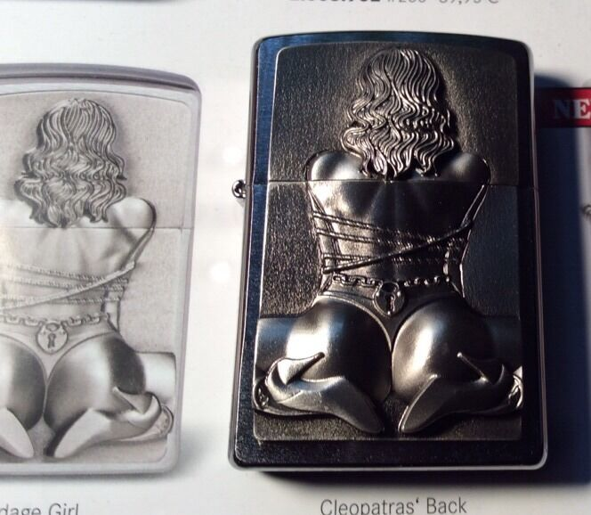 Original ZIPPO sexy BONDAGE  Girl erotic lighter HOT + SEXY Eyecatcher