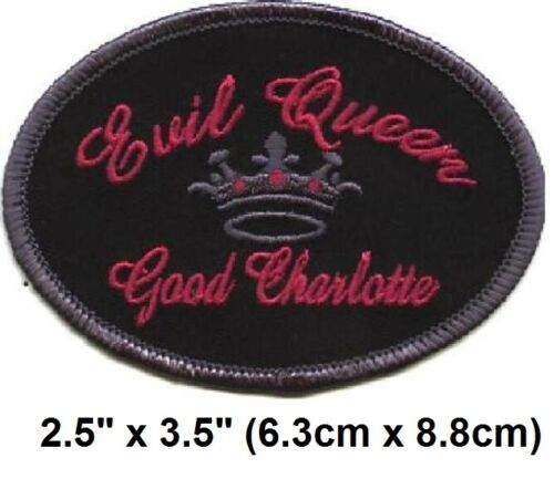 """Vintage 2002 Good Charlotte Evil Queen Embroidered Iron-On Patch 2.5"""" x 3.5"""" New"""