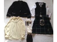 Full Kilt Suit and accessories - Large