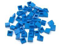 Lego Lot of 5 New Dark Azure Legs Short with Horizontal Yellow Stripes Pattern