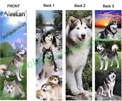 Alaskan Malamute Dog Breed - 3 Set-ALASKAN MALAMUTE BOOKMARKS Sled Dog Husky Puppies Siberian Card Art Breed