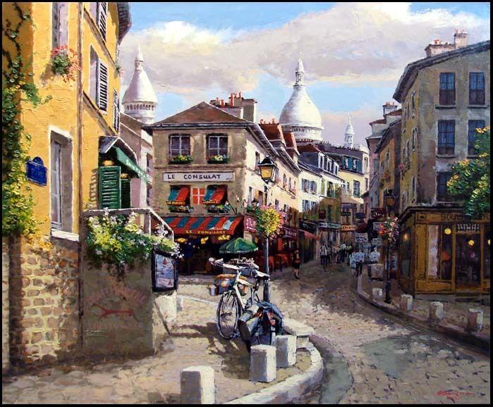 S.sam Park Montmartre Landscape Hand Signed Fine Art, Submit Your Best Offer.