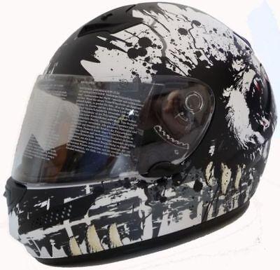 Motorradhelm Motorrad Helm Carbon Kevlar matt weiß M-XL (Kevlar Helm Xl)
