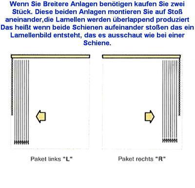 Lamellen Vorhang Maß Anfertigung Breite 340 cm x Höhe 240 cm Mischgewebe weiss