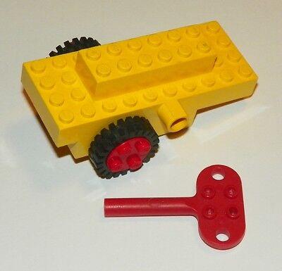LEGO - 1980's Windup Motor w/ tires & Key - Vintage