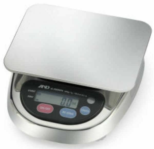 A&D-HL-WP Series Compact Bench Scale HL-3000LWPN 3000 g x 1 g
